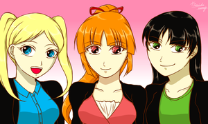 The PowerPuff Girls(Teen ver.) by TanishiCurry