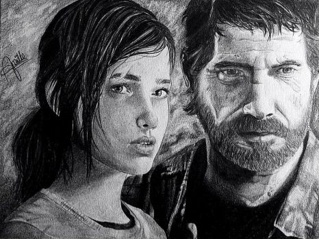 The Last of Us, Joel and Ellie by MidwaySky