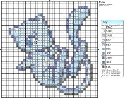 Shiny Mew Cross Stitch Pattern by makibird