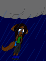 Jessica in the rain by loue1