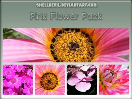 Pink Flower Pack 8 by shelldevil