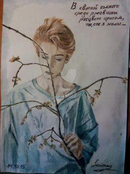 The picture of flower boy by Earl-Seimei
