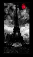 Red Moon over Paris by luvjoi