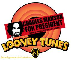 Looney Tunes Manson For Pres by jbeverlygreene