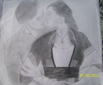 Jack and Rose from Titanic by prettymuffins