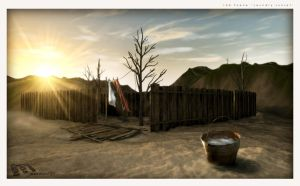 3d Scene: Laundry sunset by Mawz