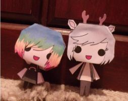 Rain Frost Paper Doll Prototypes by RainbowFrosting