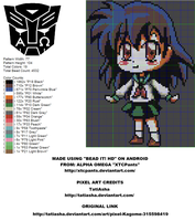 Kagome Perler Bead Pattern by XTCPants