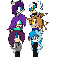 HNNNG A GROUP PHOTO by Spark-The-Hedgewolf