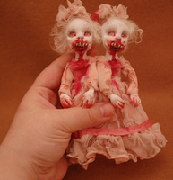Cannibal Twins-- old work from 2009 by Woodedwoods