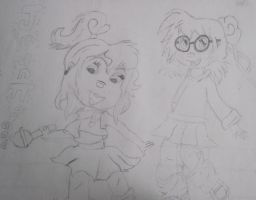 Jeanette and Brittany by Death-By-Insanity