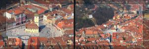 Brasov Town Square Tiltshifted by Zamolxes