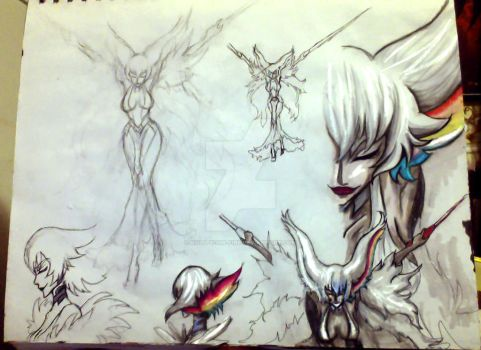Page out of my sketchbook 2: Ragyo_Kiryuin by Hold-Your-Fire