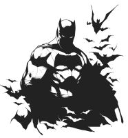 The Dark Knight - Inks by Se7enFaces