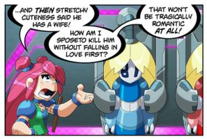 Bravoman Whiney-Hime panel 1 by D-Gee