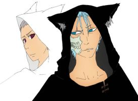 hidan and grimmjow by bunnyitachi