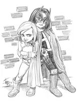 Kids play Powerwoman and Huntress by tombancroft