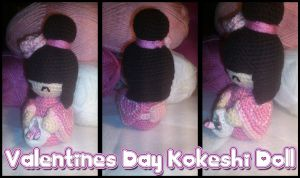 Valentine's Kokeshi Doll by passionfyre