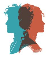 Luc and Perl Silhouette Portraits by lostie815