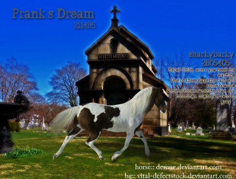 horse in graveyard2 by sharkybarky