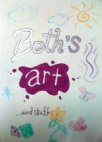 My new art book inside cover by BeeTrue