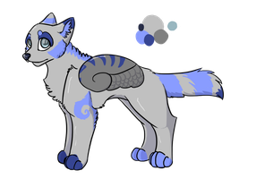 .:OPEN:.Winged Wolf Adoptable ~ 15 Points by FalpiAdopts