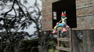 Mega Lucario for icepony64 by toamac