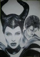 Maleficent and Diaval by OliviaSun