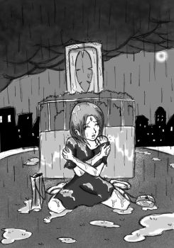 A Girl On The Rain by AceDryad by AUTISTOFTHEROUND