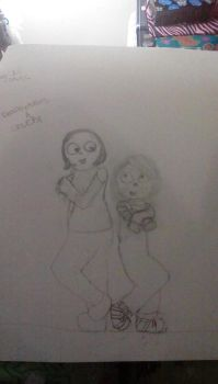 Deathlydollies13 and Chucky by childsplayfan