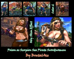 Poison As Scorpion Sea Pirate Swordwoman by BrutalAce