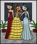 TD Prom - Heather, Courtney, and Gwen by Galactic-Red-Beauty