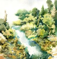 River and Trees by ChencoIlufi