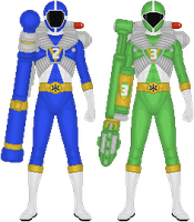 Power Rangers Lightspeed Rescue, Mega Battles by Taiko554
