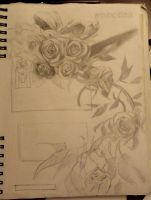 Poster Composition- Roses by Ezekiel-Black