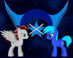 NLR OC Wallpaper - Sky Blue and Pyro by HazelCapulus