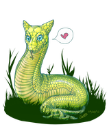 A Snake With Ears by oddsocket