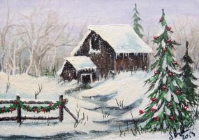 ACEO Country Christmas #2 by annieoakley64