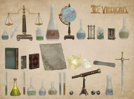 Magic Laboratory Items by deexie