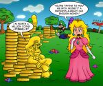 Peach Likes Mario's Gold? by Gabasonian