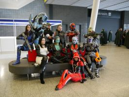 Mass Effect group shot 2 MCM Oct '12 by KaniKaniza