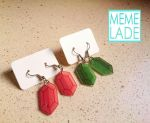 The Legend of Zelda - Earrings - Rupees by Memelade