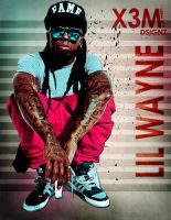 LIL WAYNE BY X3M by soulevans93