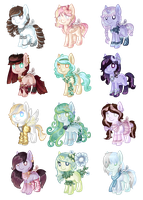 OTA Pony Adoptables Batch #3 (CLOSED) by Points-adoptables-4U