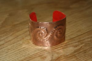 Copper Bracelet by Dewfooter