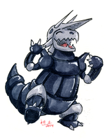 happy aggron by not-fun