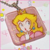 Princess Peach Necklace by bapity88