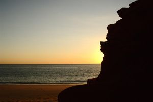 Sunset silhouette Cape Leveque by wildplaces