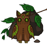 Leaf owl - hiding by BelaMuca