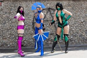 Mortal Kombat Girls by TashaTremer